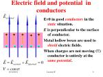 electric field and potential in conductors