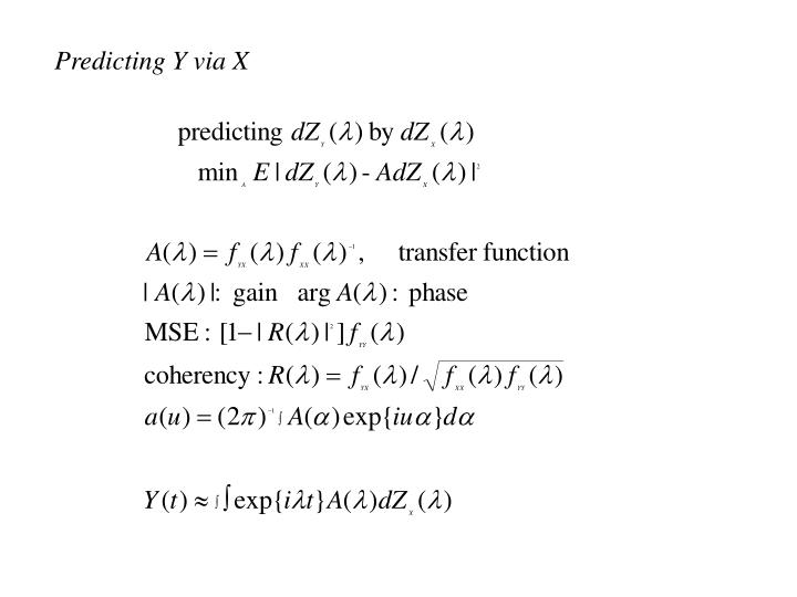 Predicting Y via X