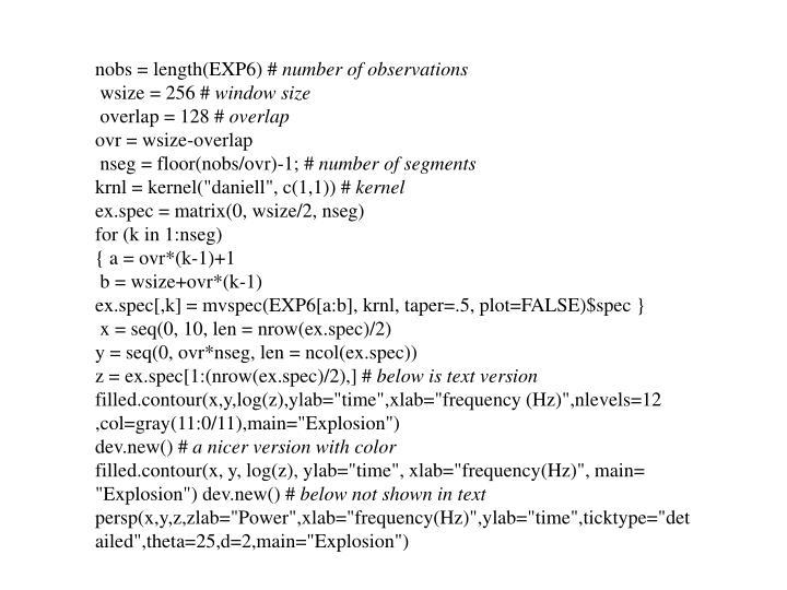 nobs = length(EXP6) #