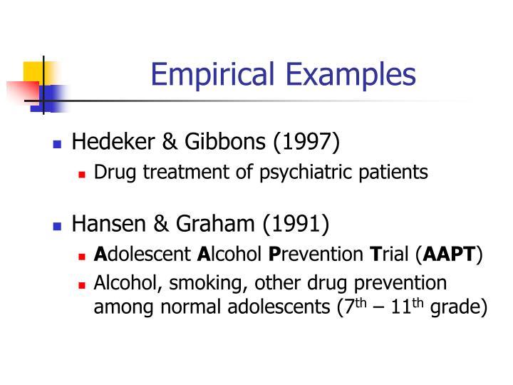 Empirical Examples