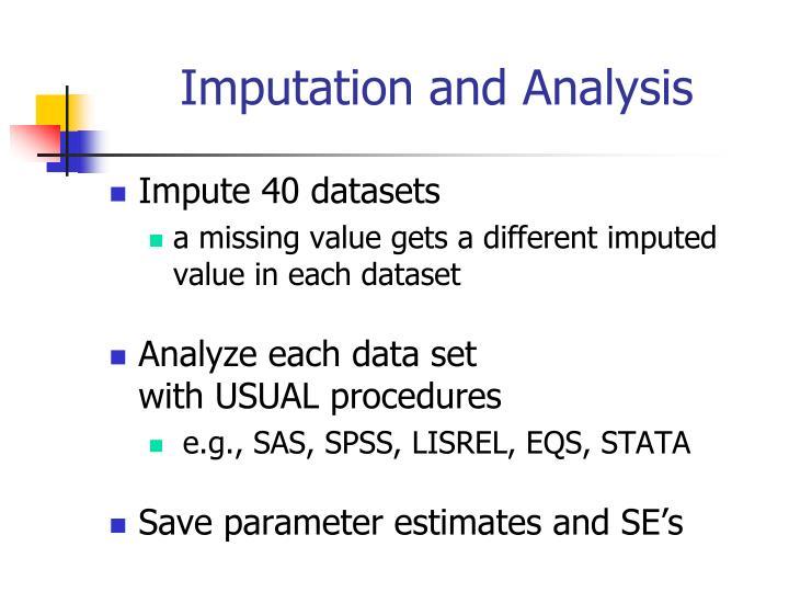 Imputation and Analysis