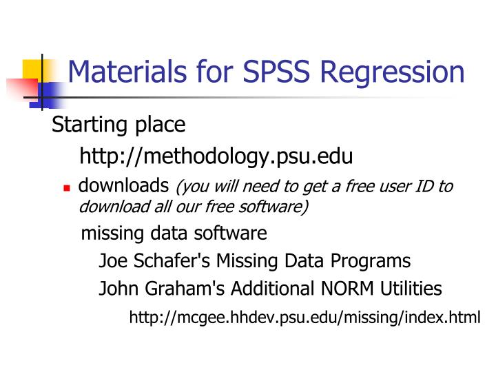 Materials for SPSS Regression