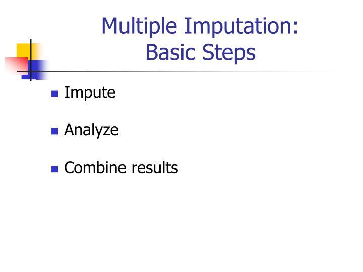 Multiple Imputation: