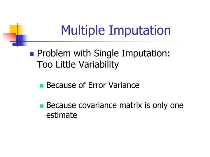 Multiple Imputation