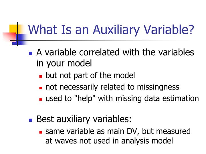 What Is an Auxiliary Variable?