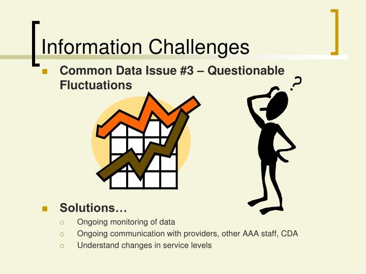 Information Challenges