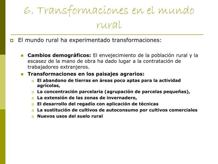 6. Transformaciones en el mundo rural