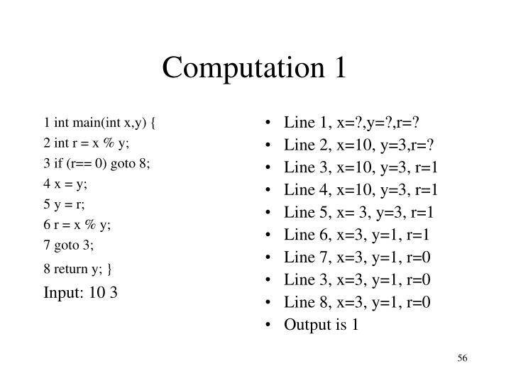 1 int main(int x,y) {