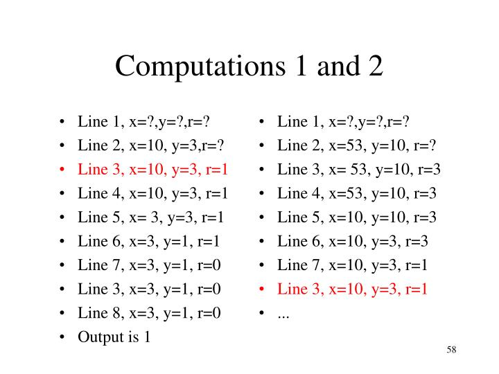 Line 1, x=?,y=?,r=?