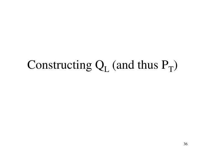 Constructing Q