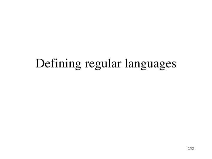 Defining regular languages