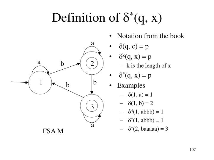 Notation from the book