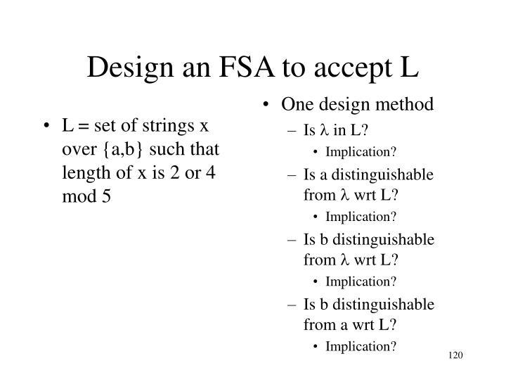 One design method