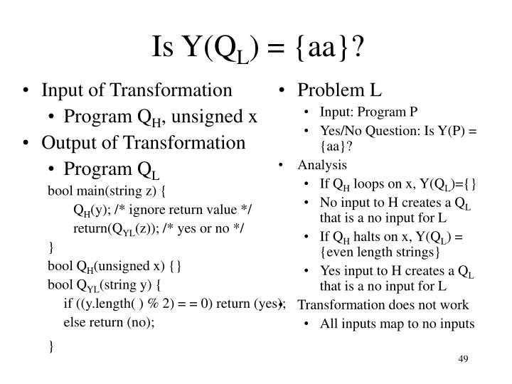 Is Y(Q
