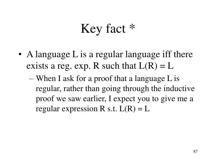 Key fact *