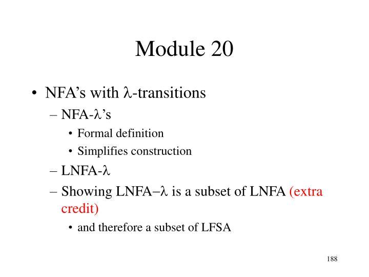 Module 20