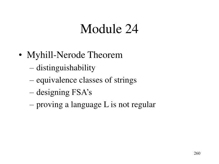 Module 24