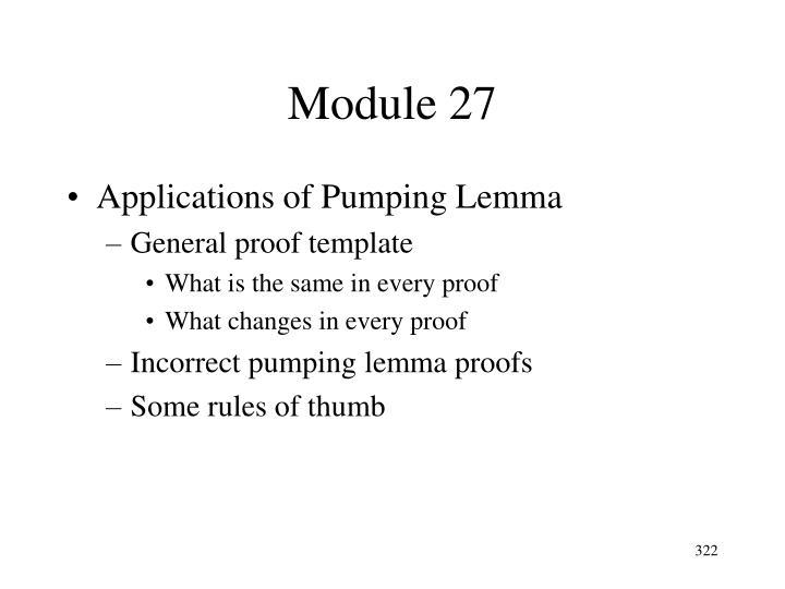 Module 27
