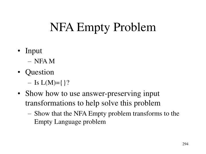 NFA Empty Problem