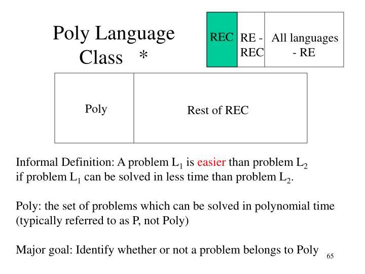 Poly Language Class   *