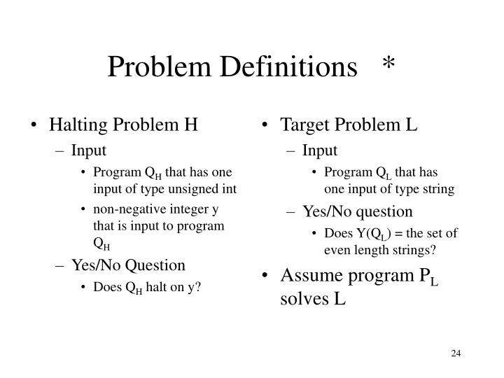 Halting Problem H