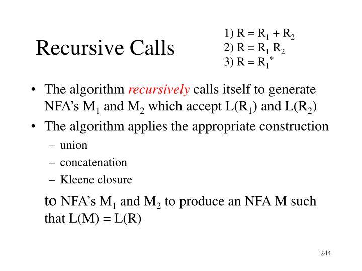 Recursive Calls