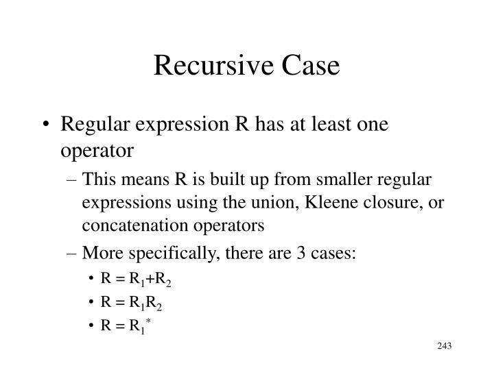 Recursive Case