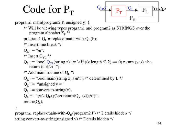 Code for P