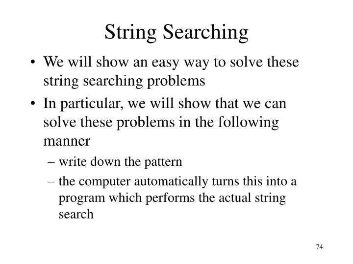 String Searching