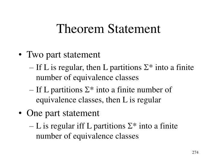 Theorem Statement