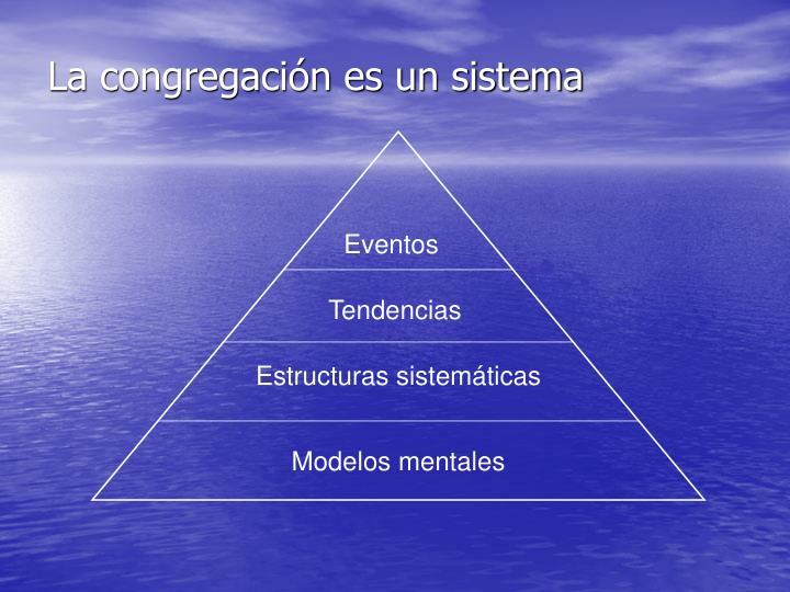 La congregación es un sistema