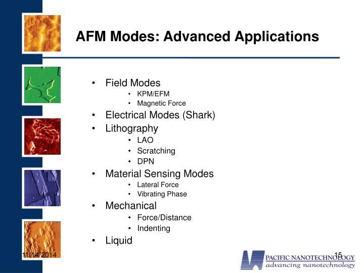 AFM Modes: Advanced Applications