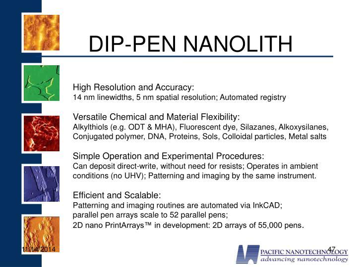 DIP-PEN NANOLITH