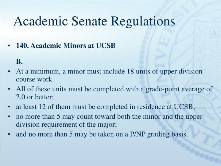 Academic Senate Regulations