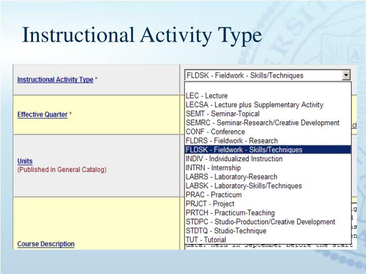 Instructional Activity Type