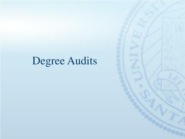 Degree Audits