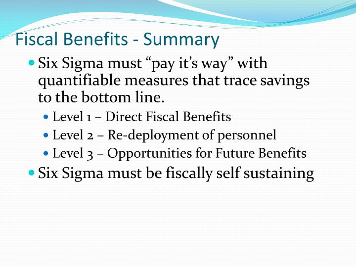 Fiscal Benefits - Summary