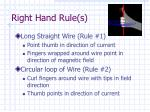right hand rule s