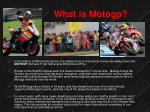what is motogp