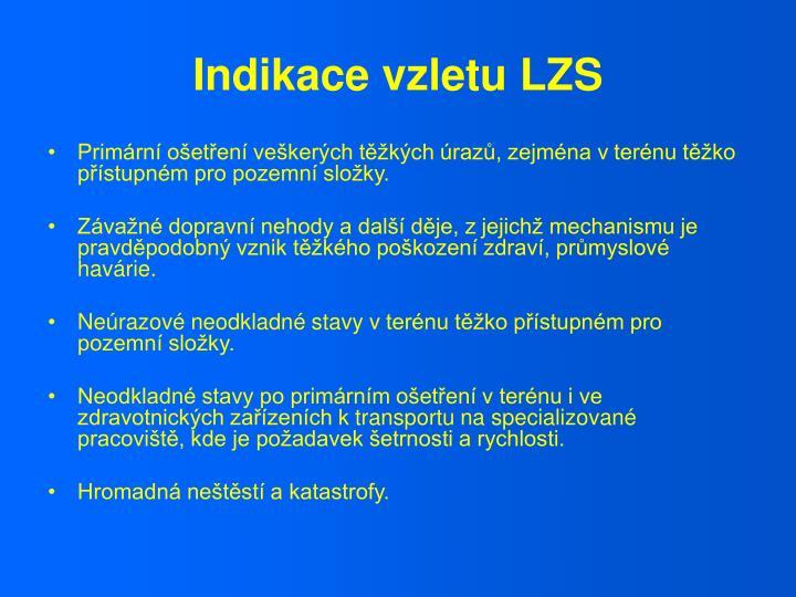 Indikace vzletu LZS