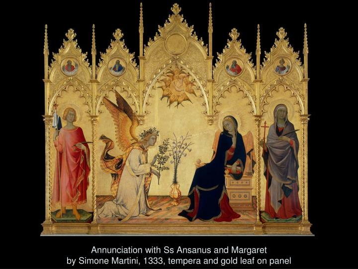 Annunciation with Ss Ansanus and Margaret