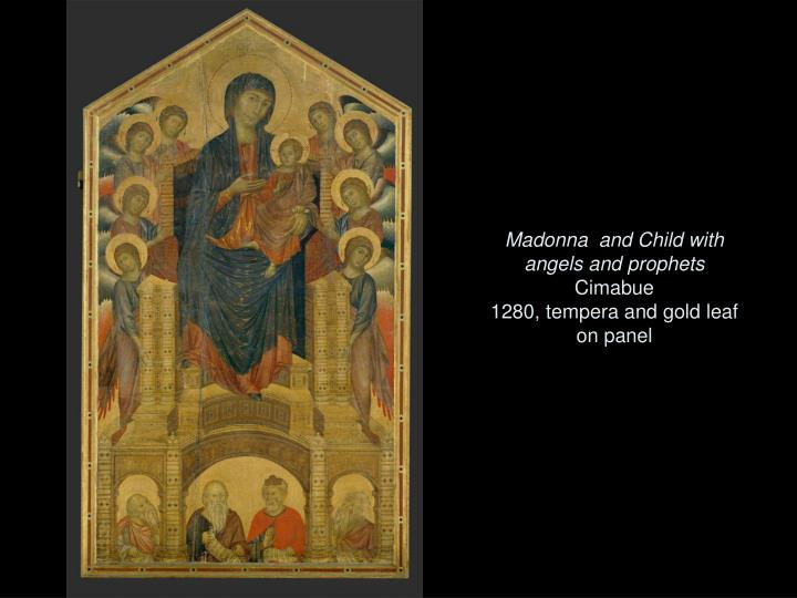 Madonna  and Child with angels and prophets