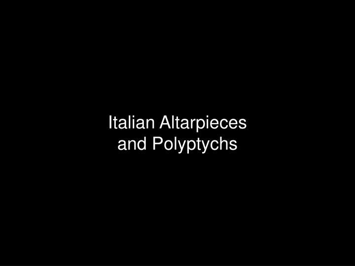 Italian Altarpieces