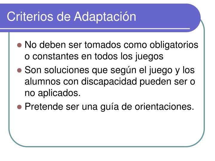 Criterios de adaptaci n1