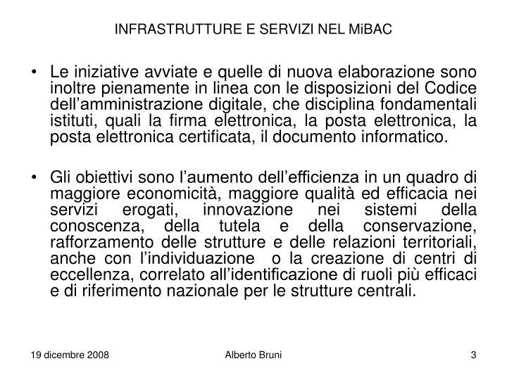 Infrastrutture e servizi nel mibac1