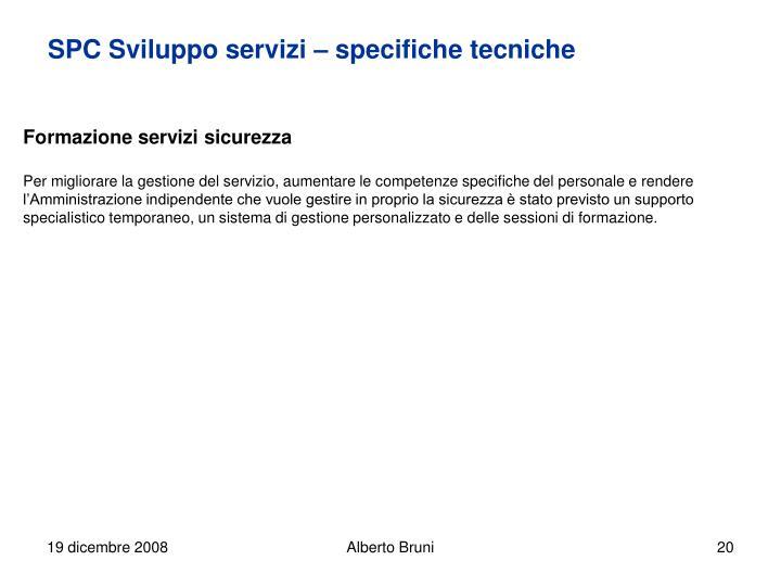 SPC Sviluppo servizi – specifiche tecniche