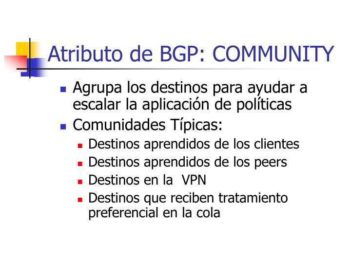 Atributo de BGP: COMMUNITY