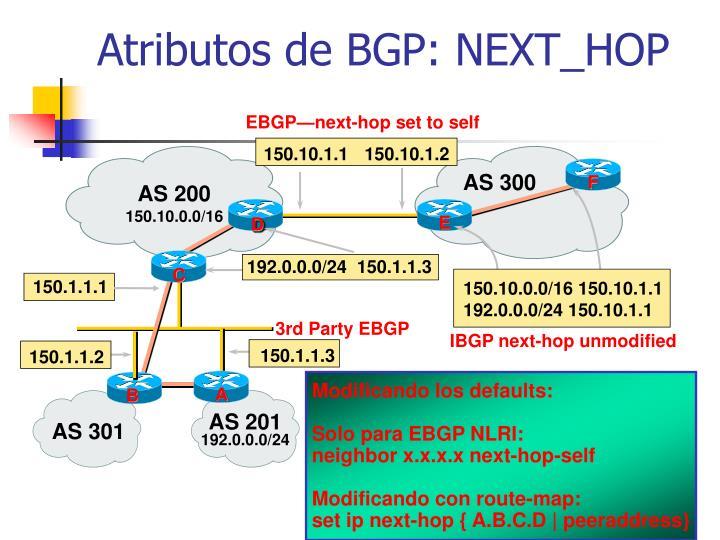 EBGP—next-hop set to self