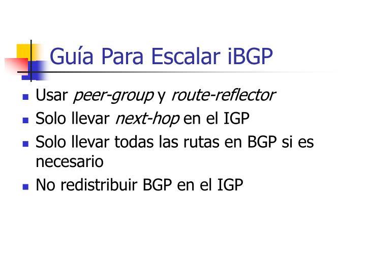 Guía Para Escalar iBGP