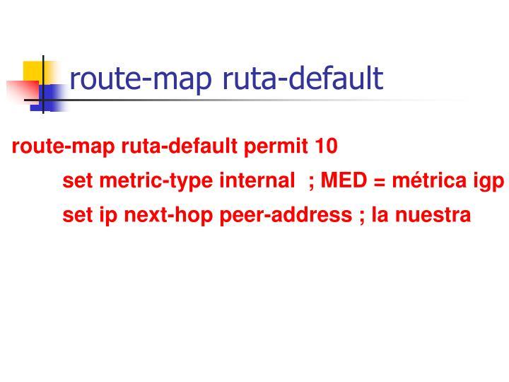 route-map ruta-default